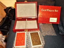 BN BOXED DOUBLE DECK PLAYING CARDS LINDEN IN NEW VINYL CASE CARDS ARE SEALED